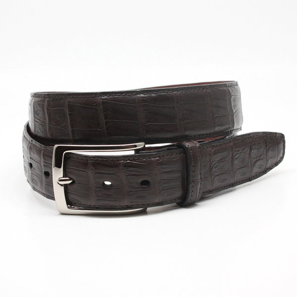 Torino Leather Brown South American Caiman Belt