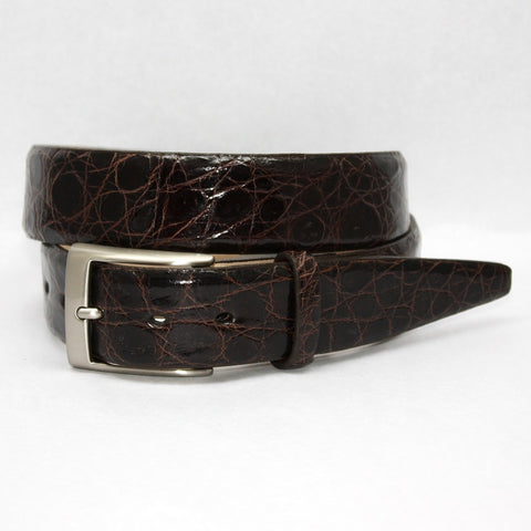 Torino Leather Brown Glazed South American Caiman Belt