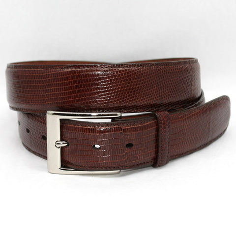 Torino Leather Cognac Lizard Belt