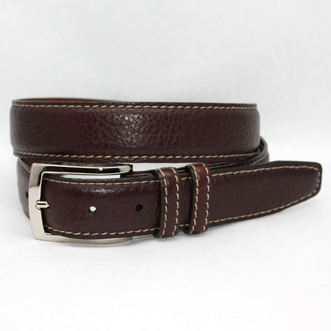 Torino Leather Brown American Bison Belt