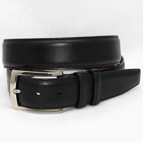 Torino Leather Black Burnished Calf Belt