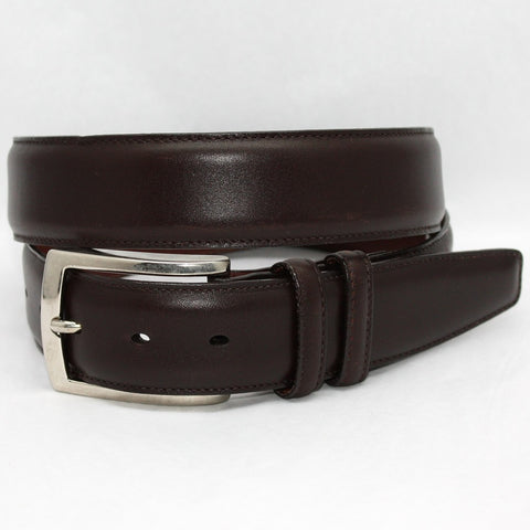 Torino Leather Brown Burnished Calf Belt