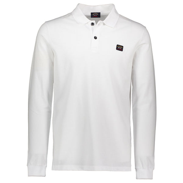 Paul & Shark Long Sleeved Polo Shirt C0P1001 - White