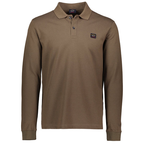 Paul & Shark Long Sleeved Polo Shirt C0P1001 - Light Brown