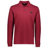 Paul & Shark Long Sleeved Polo Shirt C0P1001 - Burgundy
