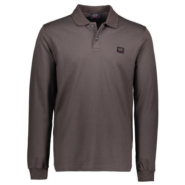 Paul & Shark Long Sleeved Polo Shirt C0P1001 - Brown