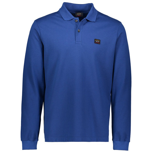 Paul & Shark Long Sleeved Polo Shirt C0P1001 - Royal Blue