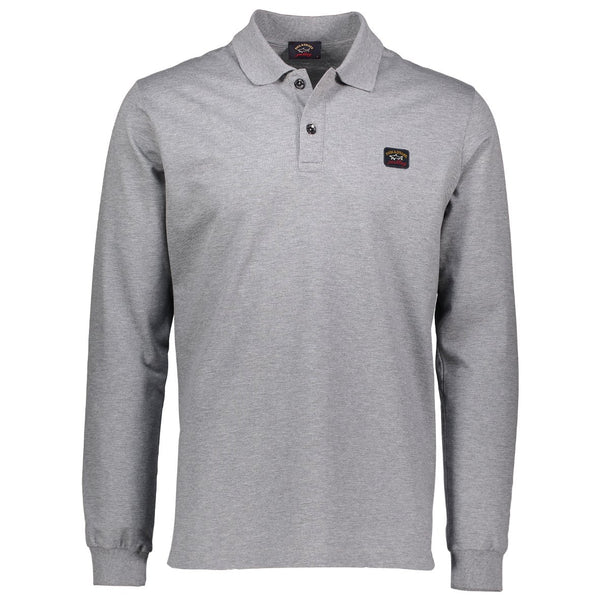 Paul & Shark Long Sleeved Polo Shirt C0P1001 - Mid Grey
