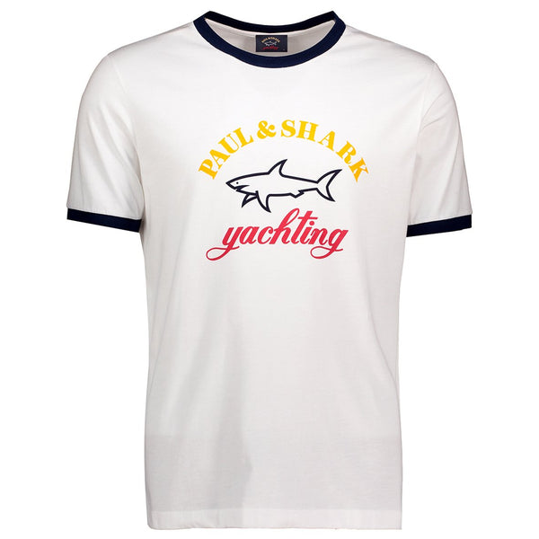 Paul & Shark T Shirt With Print C0P1006 - White