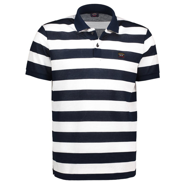 Paul & Shark Striped Polo Shirt C0P1012 - Navy / Military Green