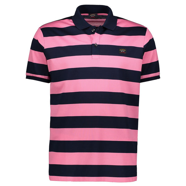 Paul & Shark Striped Polo Shirt C0P1012 - Navy / Red