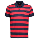 Paul & Shark Striped Polo Shirt C0P1012 - Navy / Burgundy