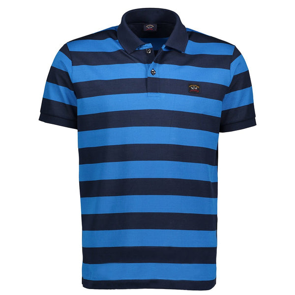 Paul & Shark Striped Polo Shirt C0P1012 - Navy / Light Blue