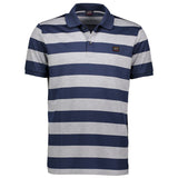 Paul & Shark Striped Polo Shirt C0P1012 - Navy / Grey