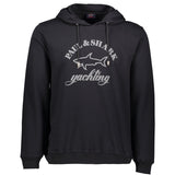 Paul & Shark Sweatshirt With Hood And Print C0P1023 - Black