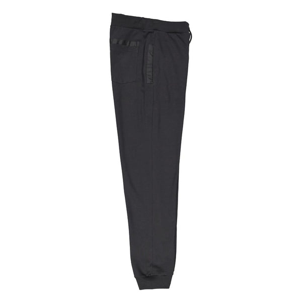 Paul & Shark Cotton Sweatpants With Contrasting Details C0P1024 - Black
