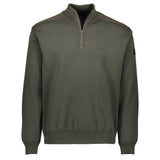 Paul & Shark Marine Wool Sweater With Zip C0P1028 - Military Green