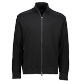 Paul & Shark Marine Wool Cardigan With Zip C0P1029 - Black