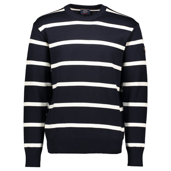 Paul & Shark Striped Wool Crewneck Sweater C0P1031 - Navy