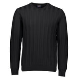 Paul & Shark Ribbed Wool Sweater C0P1035 - Black