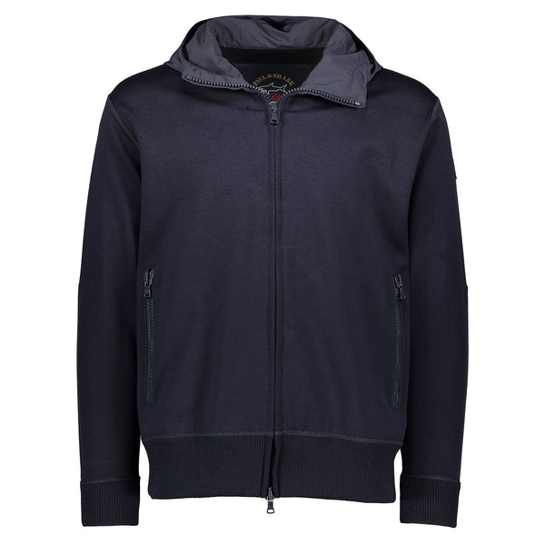 Paul & Shark Wool Jacket With Hood C0P1039 - Navy