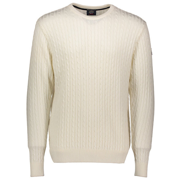 Paul & Shark Wool Cable Knit Sweater C0P1045 - Ivory