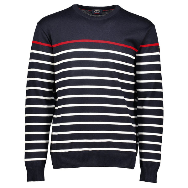 Paul & Shark Striped Wool Sweater C0P1046 - Navy