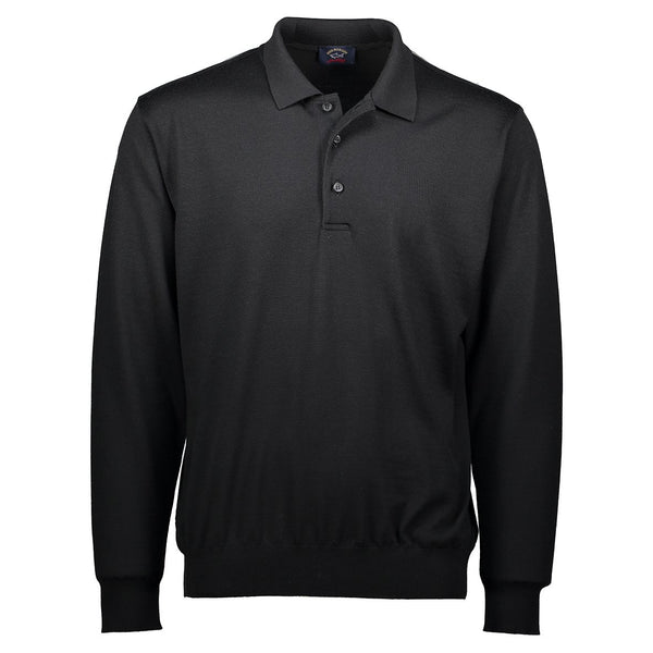 Paul & Shark Wool Polo Sweater C0P1050 - Black