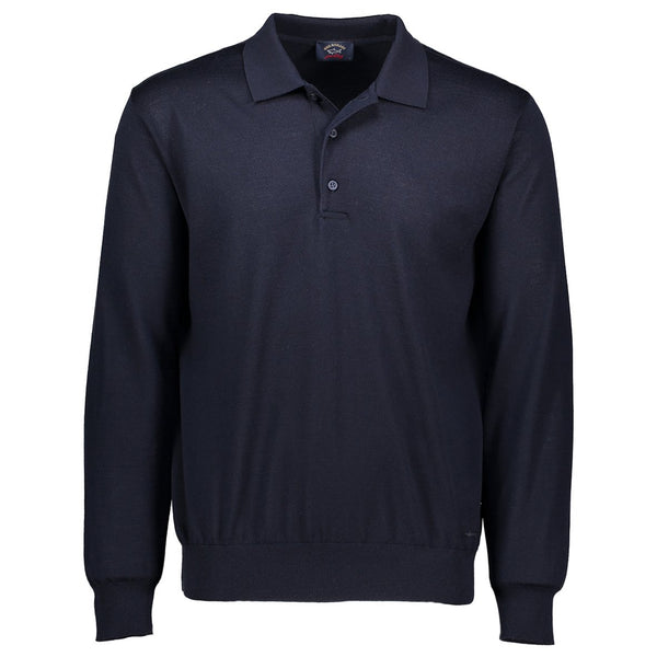Paul & Shark Wool Polo Sweater C0P1050 - Navy