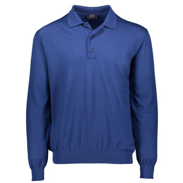 Paul & Shark Wool Polo Sweater C0P1050 - Ocean Blue
