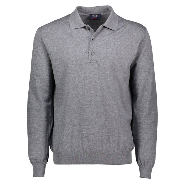 Paul & Shark Wool Polo Sweater C0P1050 - Mid Grey