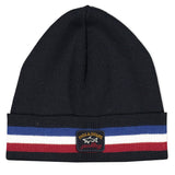 Paul & Shark Wool Hat With Sport Stripes C0P1056 - Navy