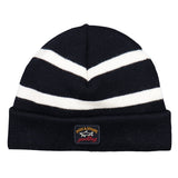 Paul & Shark Wool Hat With White Stripes C0P1057 - Navy / White
