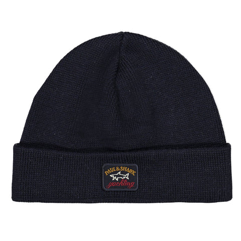 Paul & Shark Wool Hat With Logo C0P1058 - Navy