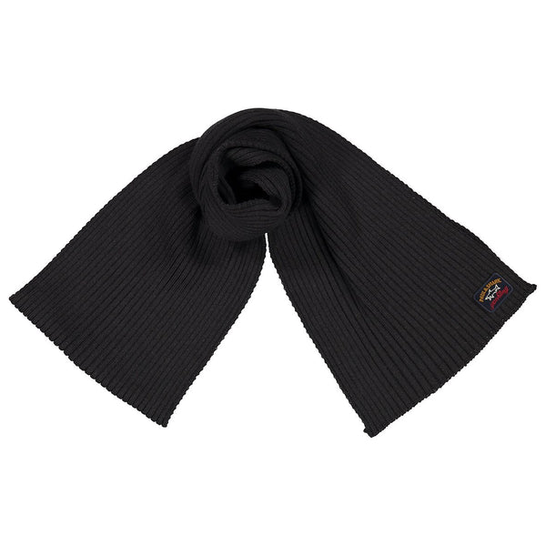 Paul & Shark Wool Scarf C0P1059 - Black