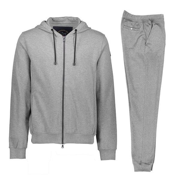 Paul & Shark Cotton Sweat Track Suit C0P1064 - Mid Grey