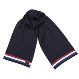 Paul & Shark Wool Scarf With Multicoloured Stripes C0P1067 - Navy