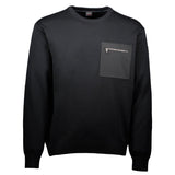 Paul & Shark Wool Sweater With Pocket C0P1069 - Black