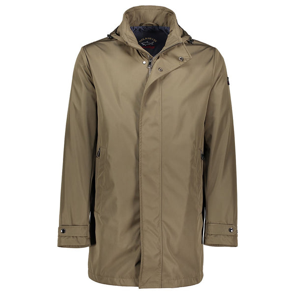Paul & Shark Single Breasted Jacket In Technical Fabric C0P2002 - Military Green