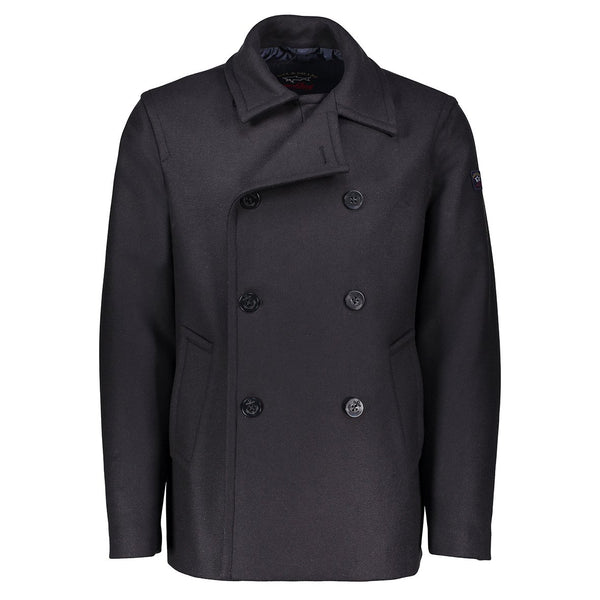 Paul & Shark Wool And Cashmere Peacoat C0P2004 - Navy