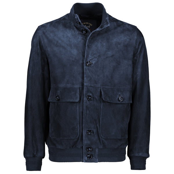 Paul & Shark Suede Leather Jacket C0P2005 - Navy