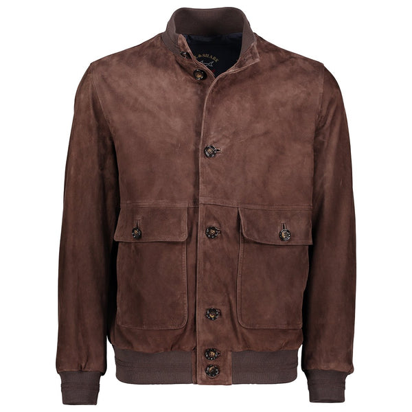 Paul & Shark Suede Leather Jacket C0P2005 - Brown