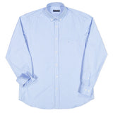 Paul & Shark Cotton Pinstriped Shirt C0P3005 - Light Blue / White