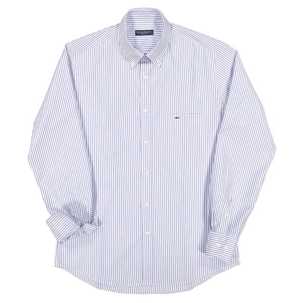 Paul & Shark Stripes Motif Cotton Shirt C0P3006 - Light Blue / White
