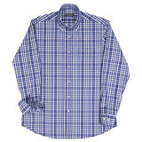Paul & Shark Check Cotton Shirt C0P3009 - Navy / White