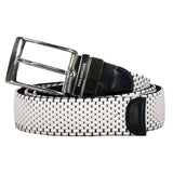 Paul & Shark Reversible Fabric And Leather Belt C0P6001 - White