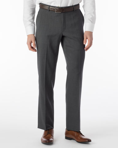 Ballin Pants - Soho Super 120's Gabardine - Mid Grey