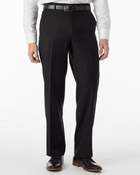 Ballin Pants - Dunhill Super 120's 4 Harness Serge - Black