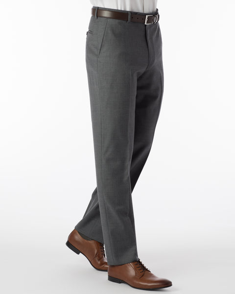 Ballin Pants - Dunhill Super 120's 4 Harness Serge - Mid Grey