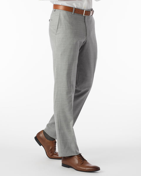 Ballin Pants - Soho Super 120's 4 Harness Serge - Light Grey